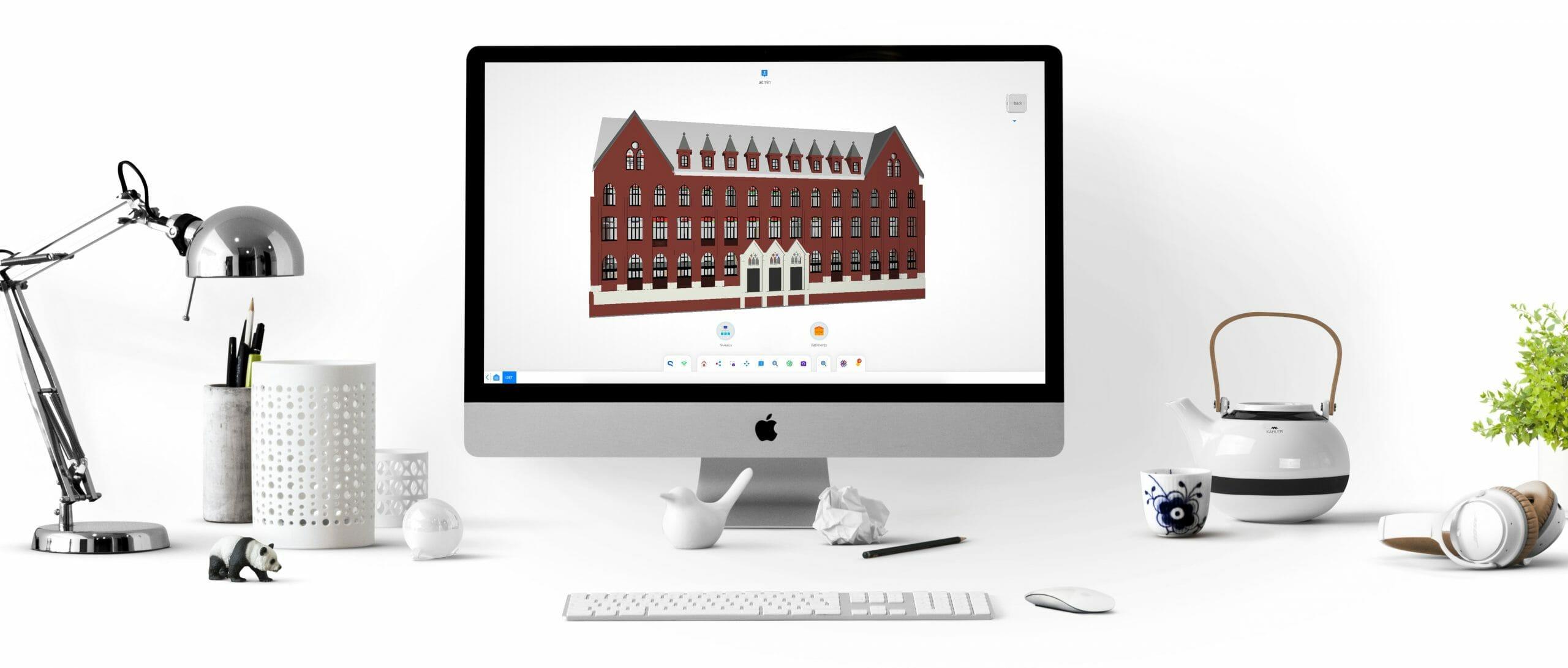 Capture d'écran Teia bâtiment Yncréa