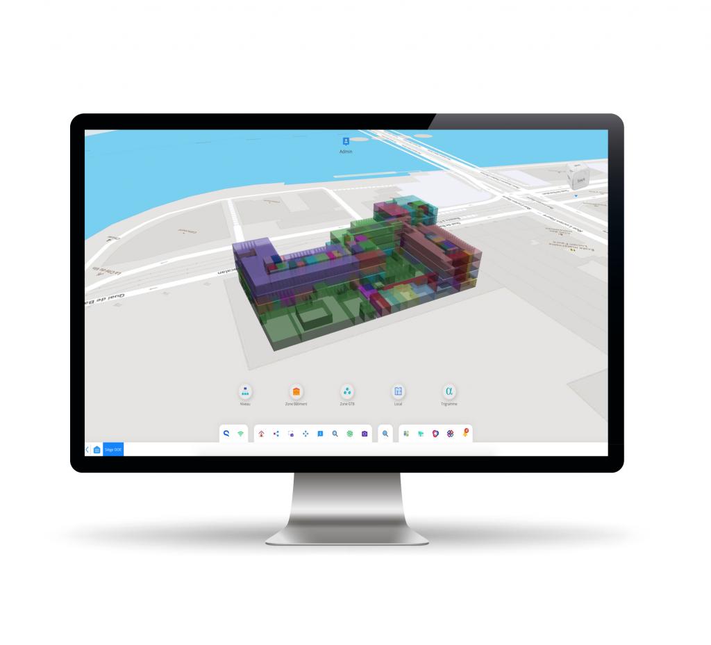 Capture écran Teia visualisation 3D