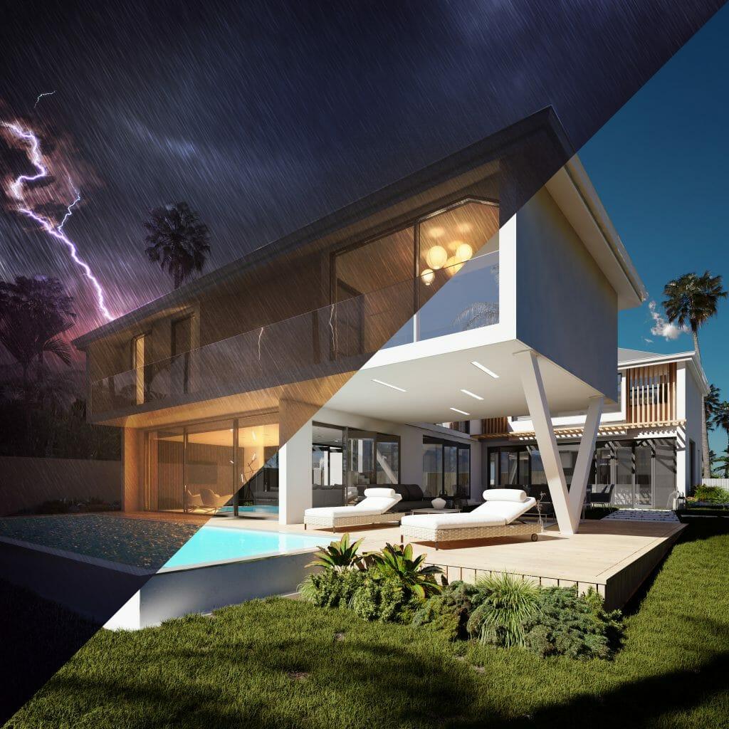 Perspective 3D DAZA House - Villa Île Maurice