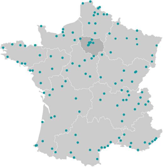 Cartes des 122 gares BIM GEM à horizon 2025